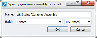 Figure 4. Specify Genome Assembly Build Information