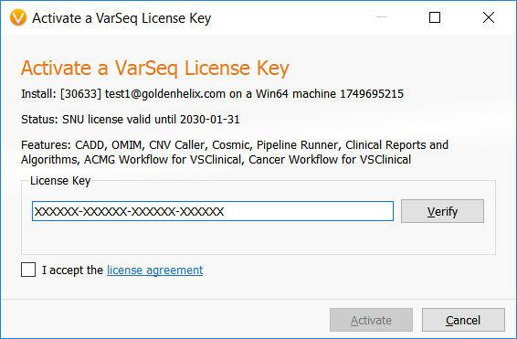 activate license key